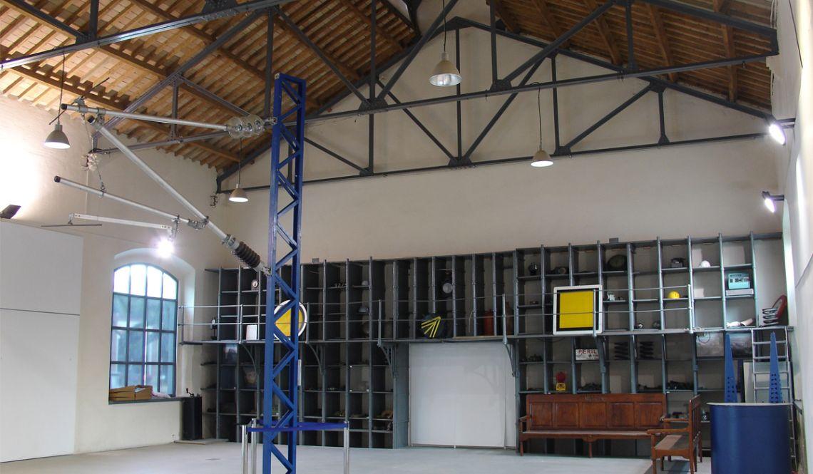 Intérieur de la salle d'expositions temporaires