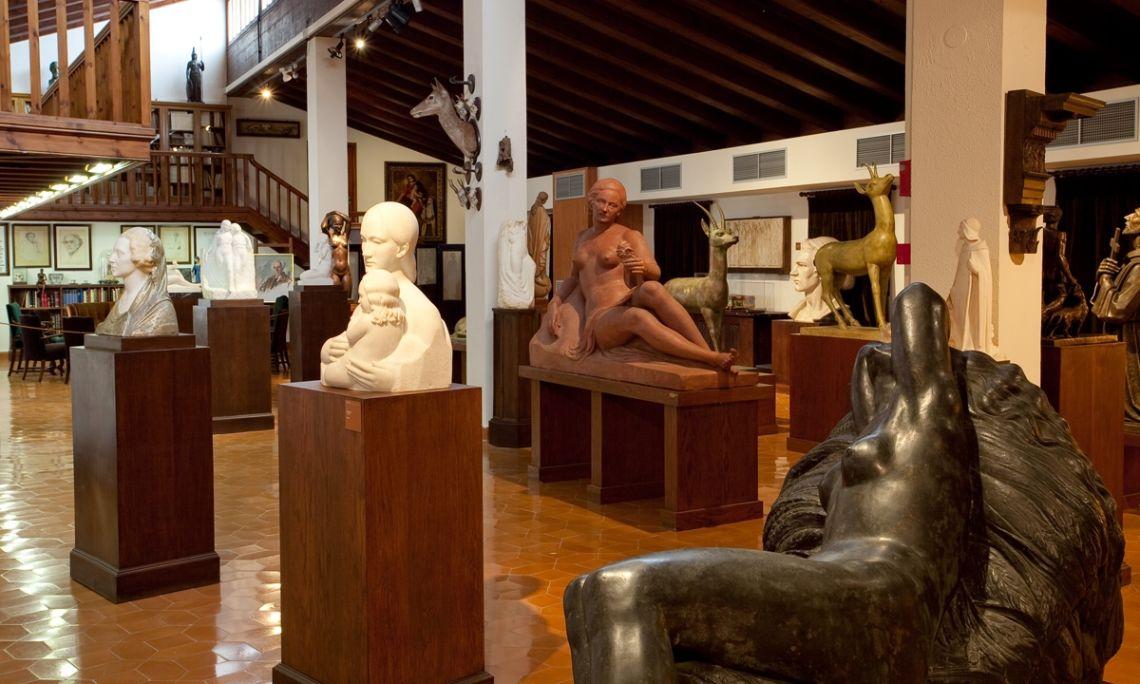 Estudi biblioteca de Frederic Marès. ©Museu Frederic Marès. Foto: Guillem F-H