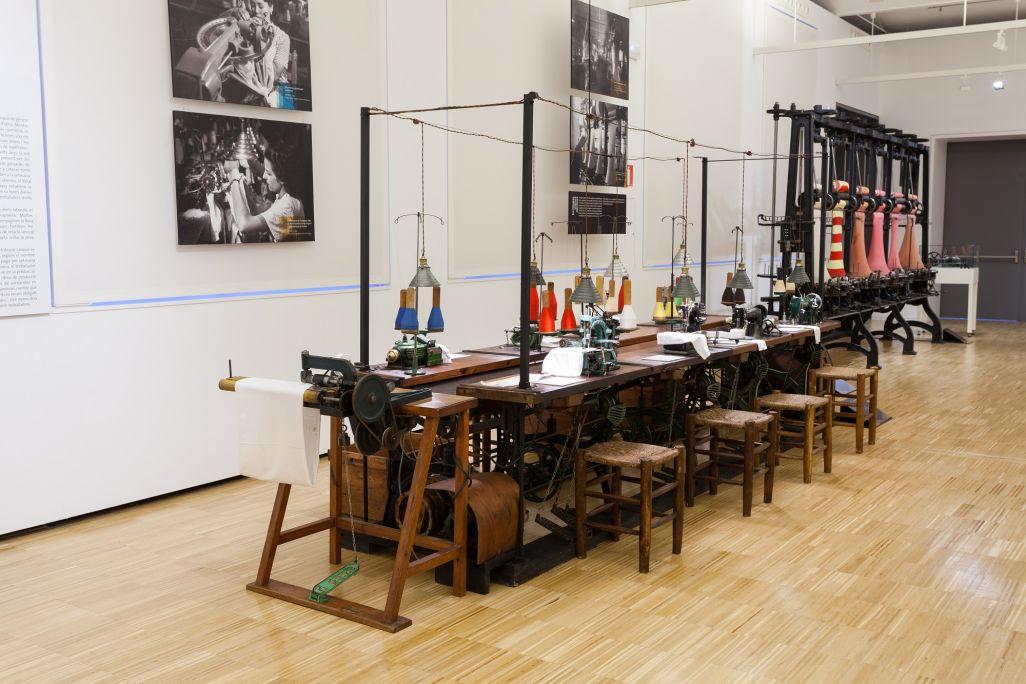 Vue sur l'espace dédié aux travaux de l'usine vers le premier quart du XXe siècle © Eusebi Escarpenter- Musée de Mataró