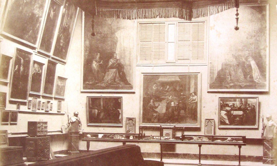 Aspecte que presentava la sala de la Pinacoteca a finals del segle XIX.