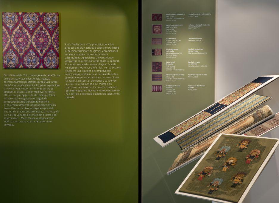 Exposition Retalls d'ahir i d'avui (Morceaux de tissus d'hier et d'aujourd'hui). Photo de Quico / CDMT.