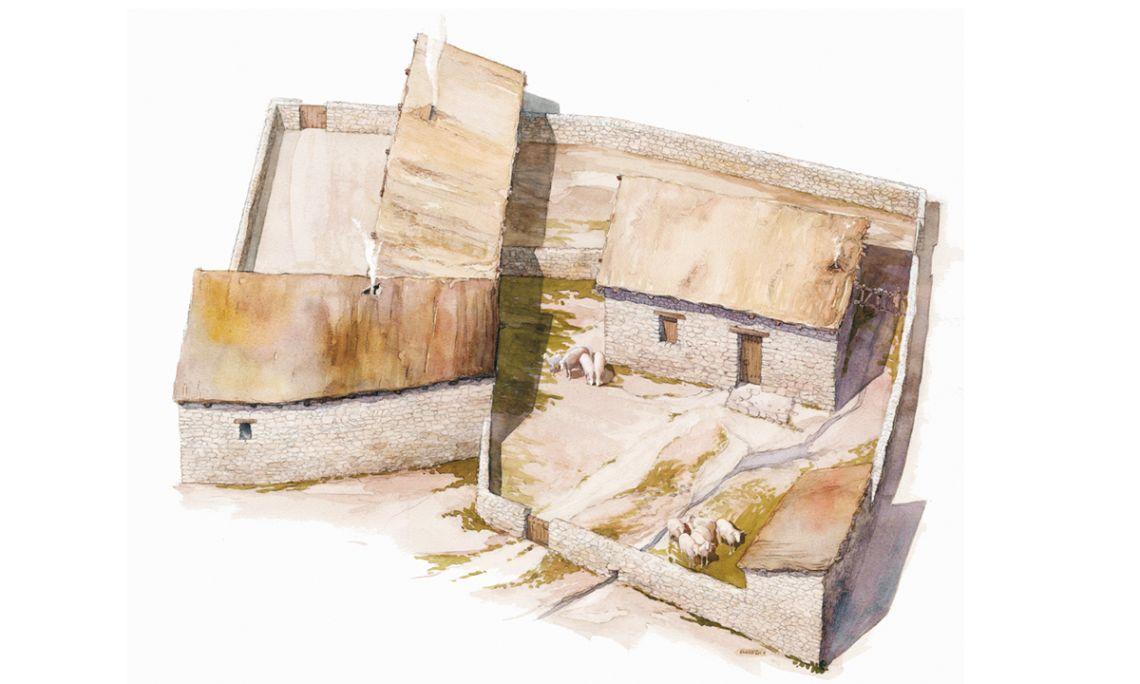Reconstrucció ideal del vilatge visigot (Jordi Sagrera)