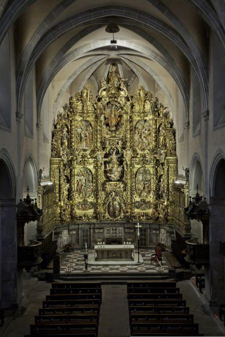 Altarpiece in Santa Maria church in Arenys de Mar. Photo:David Castanyeda