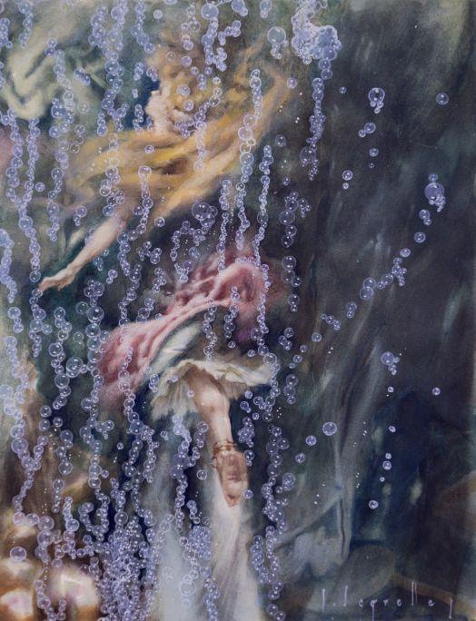 La nimfa marina (Les mil i una nits)  1950 Aquarel·la sobre paper Col·lecció particular