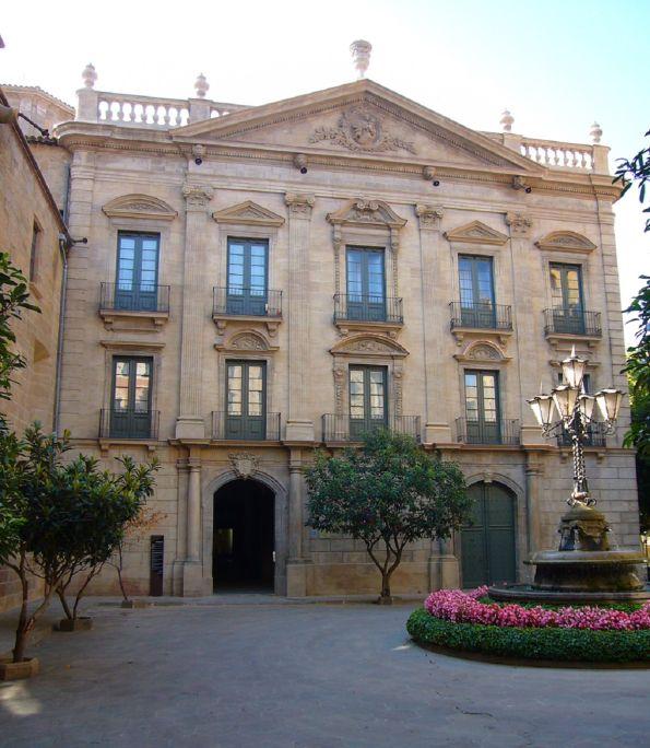 Façade du Palais Épiscopal de Solsona, siège du Musée Diocésain et Départemental de Solsona.