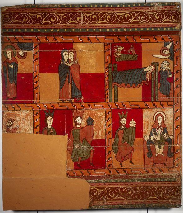Lateral d'altar de l'església de Sant Andreu de Sagàs (Berguedà), últim quart del s. XII.