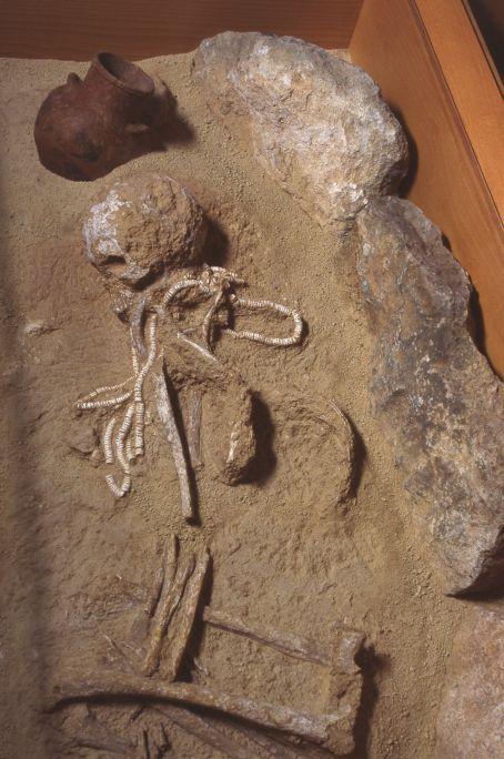 Enterrament de la necròpolis neolítica del Masdenvergenc (Amposta).