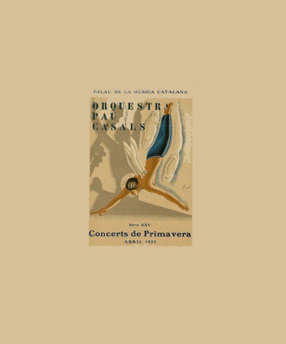 Programa de l'Orquestra Pau Casals. Concerts de Primavera, 1933.