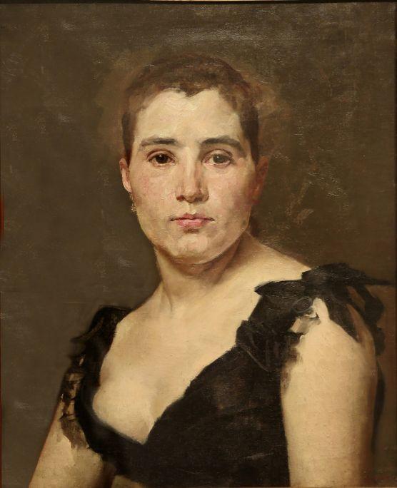 Retrat de la senyoreta Dulce (Portrait of Miss Dulce), Antoni Caba i Casamitjana, 19th century, oil on canvas, 46 × 36 cm. Photo: Pere Cornellas, 2014