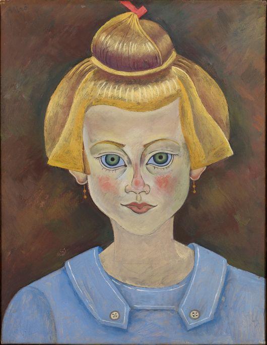 Retrat d'una vaileta, Joan Miró, 1919, oli damunt paper damunt tela, 35× 27 cm, Fundació Joan Miró, Barcelona. Donació de Joan Prats