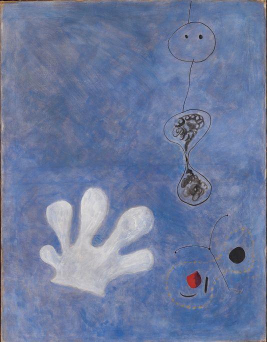 Pintura (El guante blanco), Joan Miró, 1925, óleo sobre tela, 113 × 89,5 cm, Fundación Joan Miró, Barcelona
