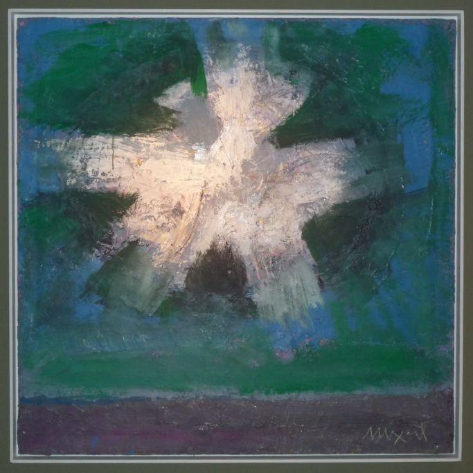 Luminosidad astral, serie «Big Bang», 2002, óleo sobre tela, 100 × 100 cm