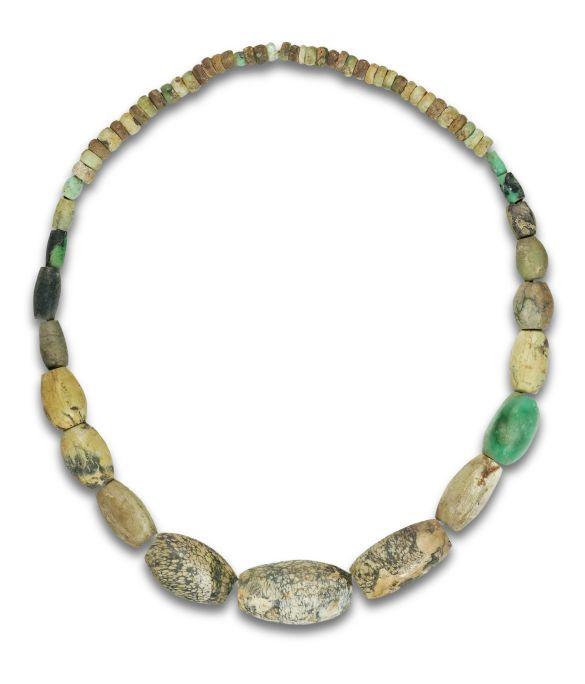 Variscite necklace, Neolithic period (6200-5900BC). Site: Prehistoric Mines of Gavà (Gavà)