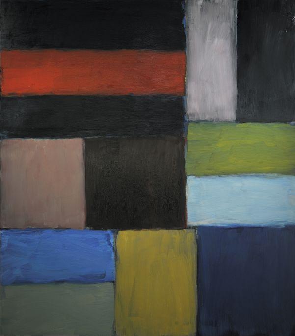 La muntanya d'Oisin, Sean Scully, 2010, oli sobre alumini, 216 × 190 cm. Donació de l'artista