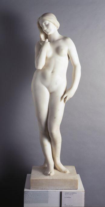 La bellesa, Josep Llimona, 1924. Marbre, 120 × 32 × 35 cm. Donació de J. Sala Ardiz.