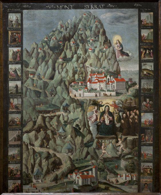 Montserrat, Anonyme, début du XVIIe siècle. Huile sur toile, 112 × 95 cm. Don de Convergència Democràtica de Catalunya, 1994.
