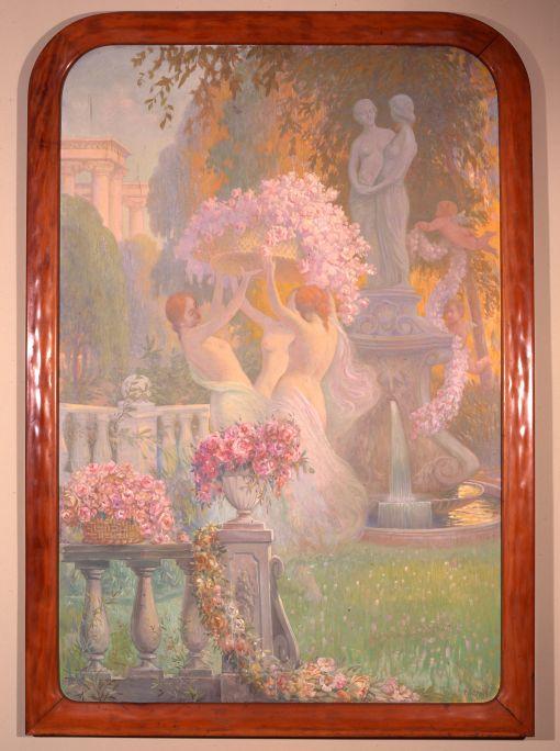 Pintura decorativa, Pere Viver i Aymerich, 1913, oil on canvas, 197.5 × 132 cm. MdT 13056 Photo: Teresa Llordés