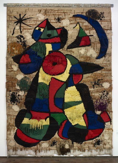 Tapisserie de la fondation, Joan Miró, 1979, Laine, 750 × 500 cm, fondation Joan Miró, Barcelone