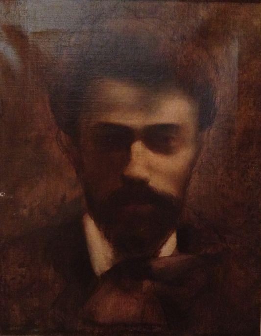 Autoportrait, Josep Dalmau i Rafael, vers 1900, huile sur toile
