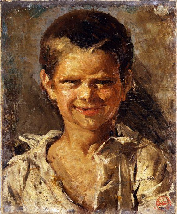 Nen a Portici, Marià Fortuny Marsal, c. 1874, oli sobre tela, 33,5 &am