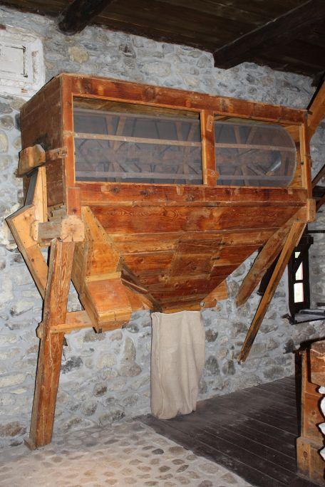 Le blutoir était connecté à l'une des trois roues dont disposait le moulin
