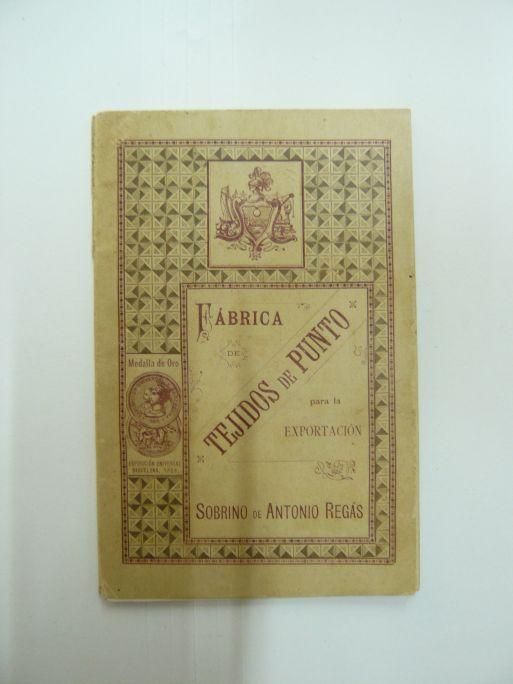 Llibre d'exportació de teixits de punt 1889 Fàbrica Sobrino de Antonio Regàs Mataró Foto: Museu de Mataró
