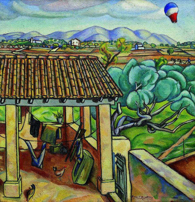 Enric Cristòfol Ricart i Nin (Vilanova I la Geltrú, 1893-1960) Porxo, 1918 Oli sobre tela Biblioteca Museu Víctor Balaguer, Vilanova i la Geltrú