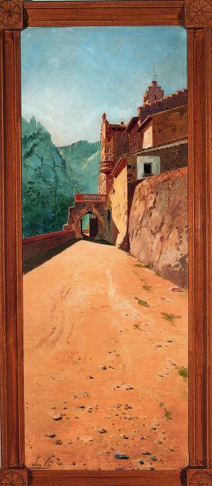 Inv.: 1929. Joan Vila Cinca, El Marquet de les Roques de la família Oliver, Sant Llorenç Savall, s.d. Oli s. tela, 181'5x70 cm.