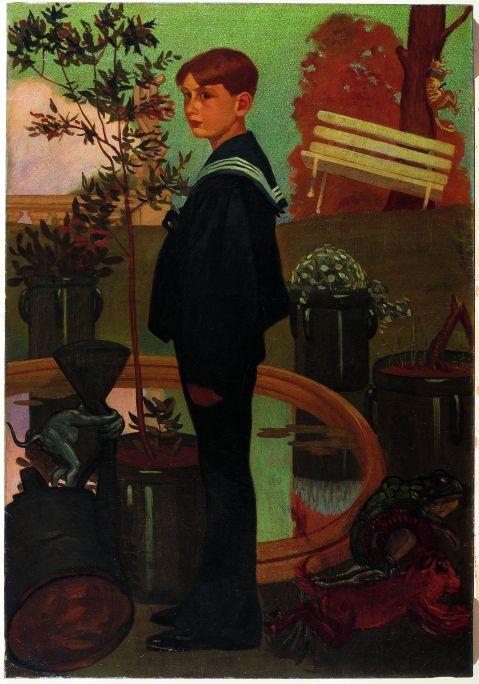 Inv.: 507. Feliu Elias Bracons, Apa, Retrat de Lluís Elias Bracons, c. 1907. Oli s. tela, 116x81 cm.