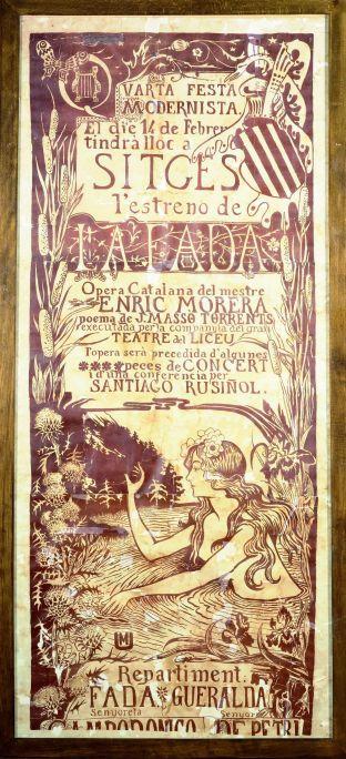 Miquel Utrillo i Morlius (Barcelona, 1862 – Sitges, 1934) Cartell de l'òpera La fada, amb música d'Enric Morera i poemes de Jaume Massó, 1897 Museu del Cau Ferrat, Sitges