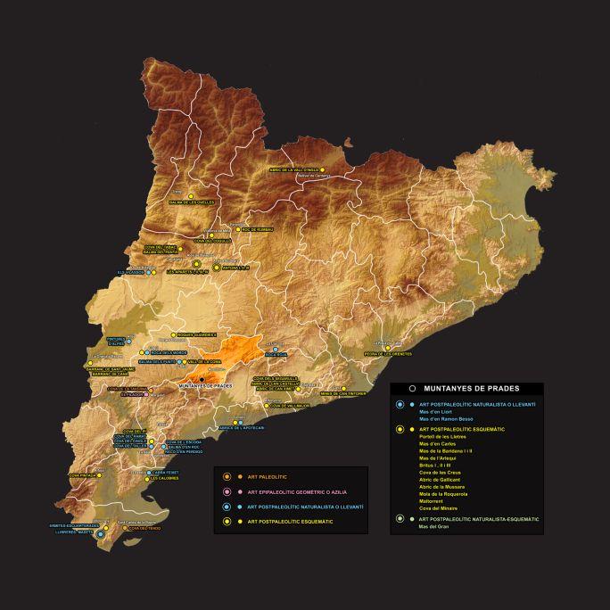 Hasta ahora, en Cataluña se han encontrado más de setenta conjuntos de arte rupestre prehistórico.