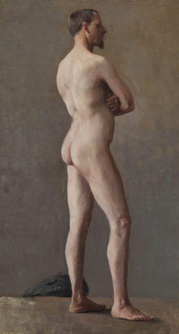 Santiago Rusiñol i Prats (Barcelona, 1861 – Aranjuez, 1931) Nu masculí. París, 1891-1892 Oli sobre tela Museu del Cau Ferrat, Sitges