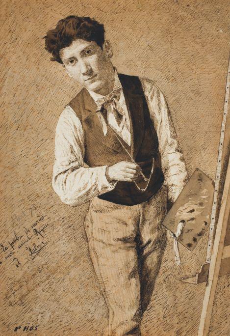 Retrat d'Alexandre de Riquer, 1875