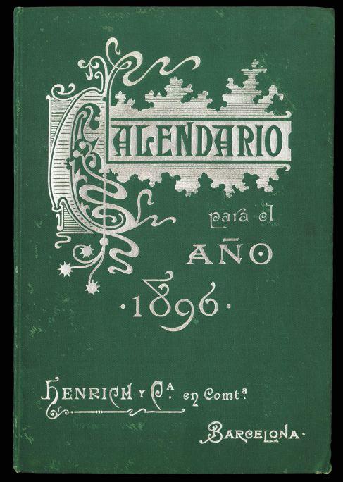 Coberta de Calendario para el año 1896,de la casa Henrich y Cia., 1896