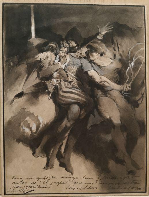 El Joglar  1916 Tècnica mixta sobre paper Col·lecció particular