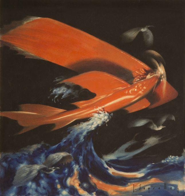 L'hidroavió  1921 Aquarel·la sobre paper Col·lecció particular