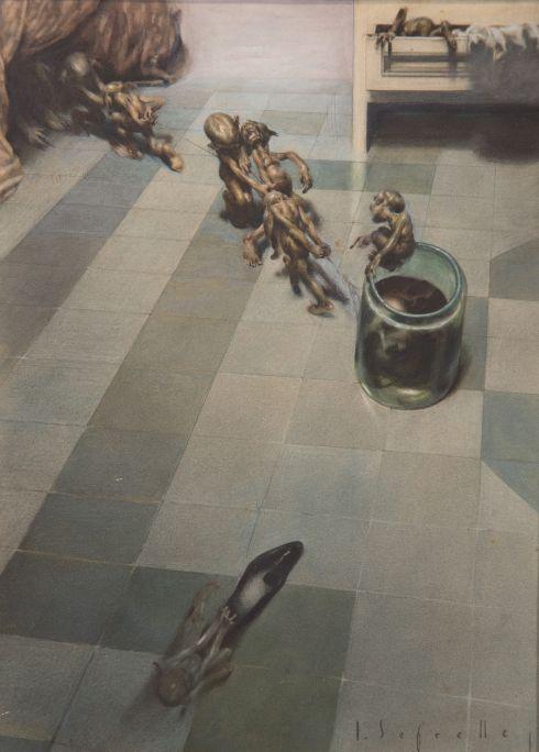 Malson. El pot de cristall  1929 Aquarel·la sobre paper Casa-Museo José Segrelles, Albaida (València)