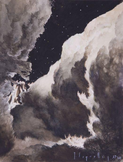 Esquerda  1959-1960 Aquarel·la sobre paper Col·lecció particular