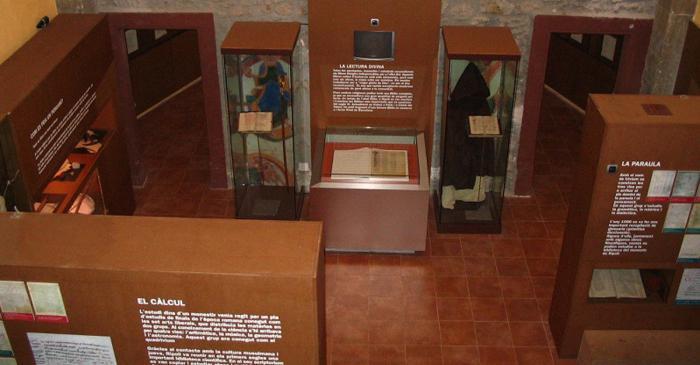 <p>Inside the Ripoll Scriptorium exhibition.</p>