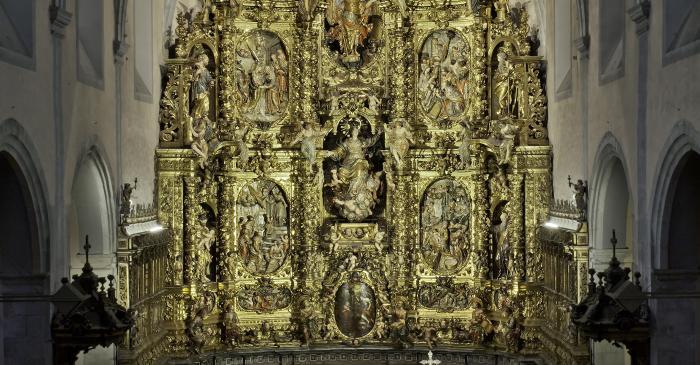 <p>Retablo de la iglesia de Santa Maria de Arenys de Mar. Foto:&nbsp;David Castanyeda</p>