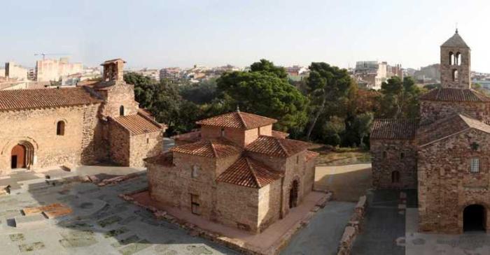 <p>Recinte de la Seu d&rsquo;&Egrave;gara. Esgl&eacute;sies de Sant Pere. Foto: Museu de Terrassa</p>