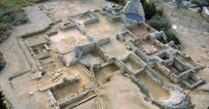 <p>View of the bathhouse of the Roman villa at Els Munts.</p>