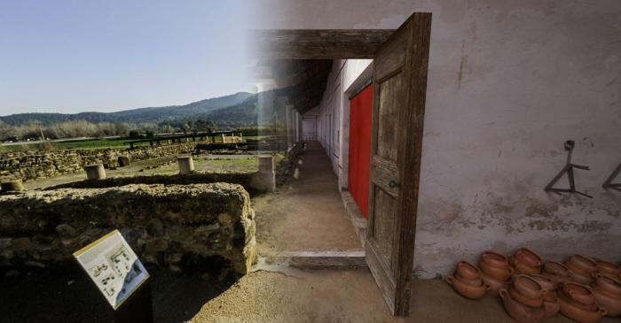 <p>Vista aeriana dera villa romana de Vilauba, 2006.</p>