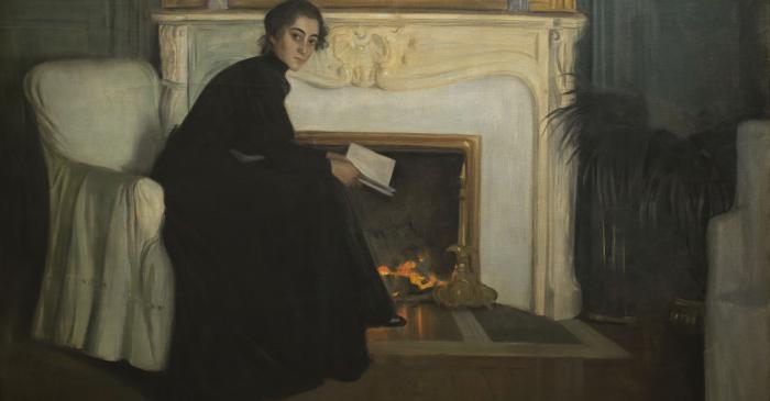 <p>Santiago Rusi&ntilde;ol. <em>Romantic Novel</em>, 1894. Museu Nacional d'Art de Catalunya, Barcelona.</p>