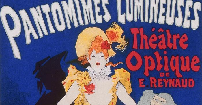 <p>Cartell Pantomimes Lumineuses. Th&eacute;&acirc;tre Optique d'&Eacute;mile Reynaud (1892).</p>