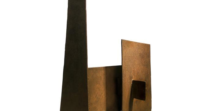 <p>Sense t&iacute;tol (escultura en planxa de ferro), Leonci Quera, 1962-1964.</p>