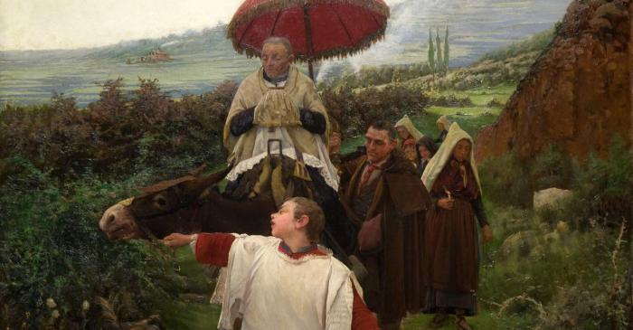 <p><em>Un combregar a muntanya</em>, Mari&agrave; Vayreda, 1887. Oli sobre tela. Dip&ograve;sit del Museu Nacional d&rsquo;Art de Catalunya, Barcelona.</p>