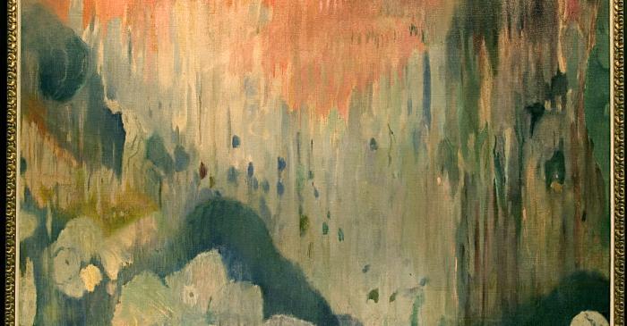 <p><em>Coves de Mallorca. Decoraci&oacute; de la casa Trinxet</em>, Joaquim Mir i Trinxet, 1903, oli sobre tela, 190 &times; 220 cm</p>