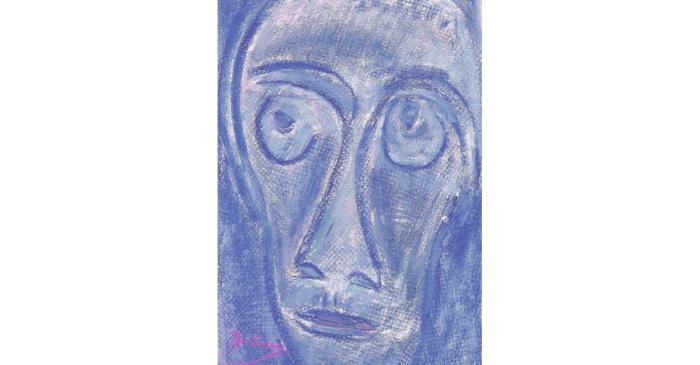 <p><em>Cara de hombre</em>, Josep Maria de Sucre i de Grau, 1962, ceras sobre papel, 69 &times; 43 cm</p>