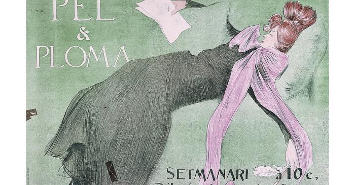<p>Sign from the magazine <em>P&egrave;l i Ploma</em>, Ramon Casas i Carb&oacute;, 1899, chromolithography, 62 &times; 88 cm</p>
